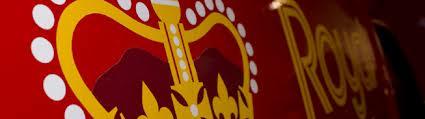Royal Mail Logo indicating that La Shack uses the Royal Mail