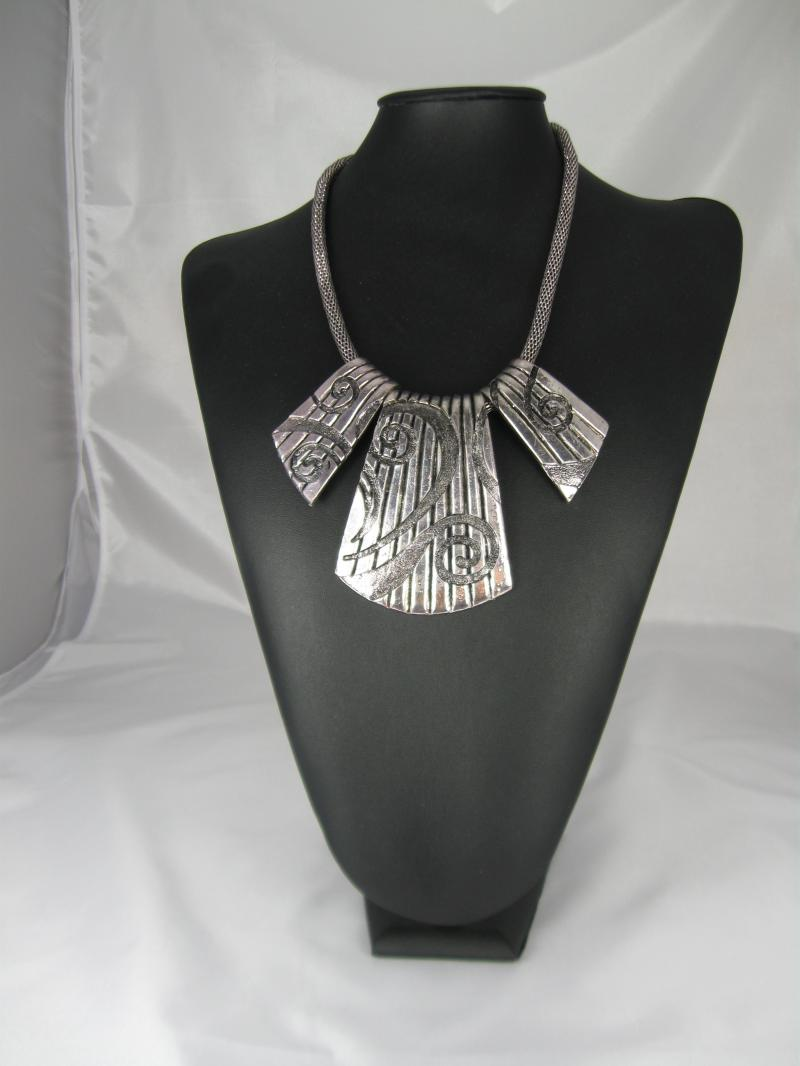 Big Bold and Beautiful Chunky Silver Necklace