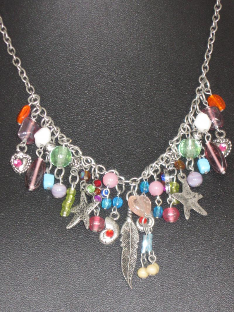 Delightful Multi Coloured Charm Necklace