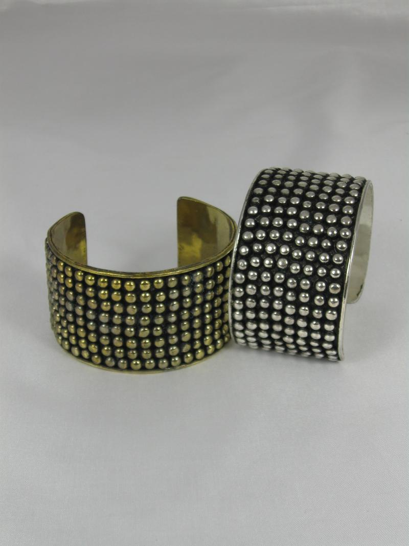 Very Stylish and Chunky Cuff Bangle with Studded Pattern