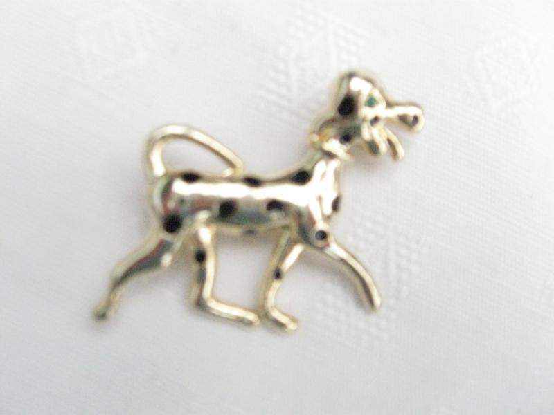 Delightful Spotty Dog Brooch