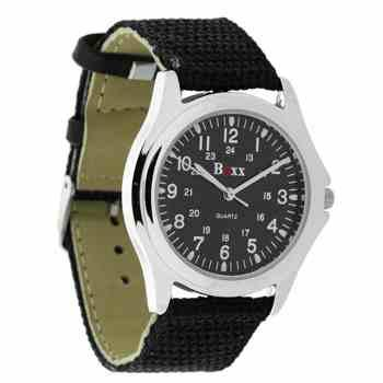 Watch from the Boxx Collection with Black Strap and Face