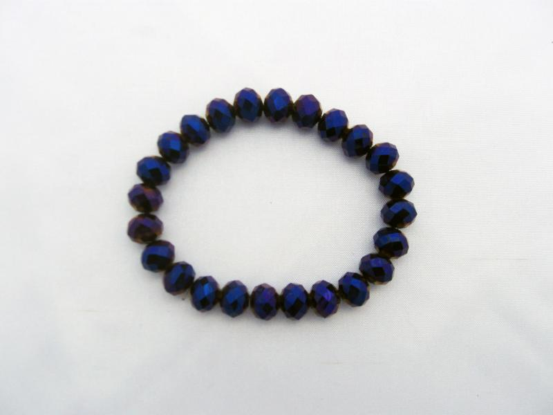 Beautifully iridescent purple,blue and gold toned bracelet