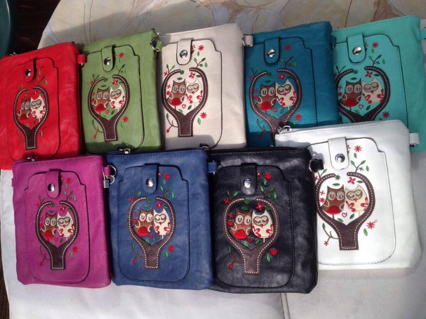 Phone/Glasses Handbag with Owl design