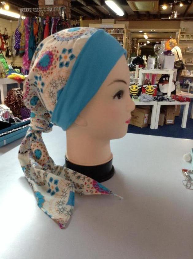 Beautifully soft and comfortable headscarves Blue Pattern