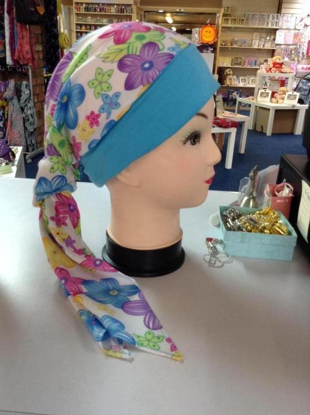 Beautifully Soft Hats And Headscarves Blue Flowers
