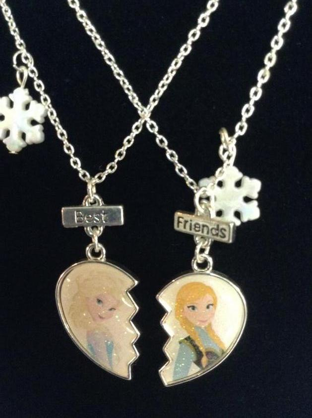 Pair of Disney Frozen Friendship Necklaces