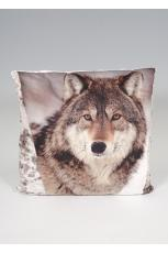 Wolf Print Cushion