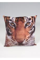 Tiger Head Print Cushion