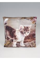 Kitten Print Cushion