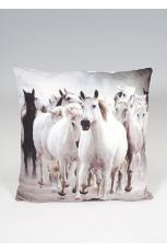 Wild Horses Print Cushion