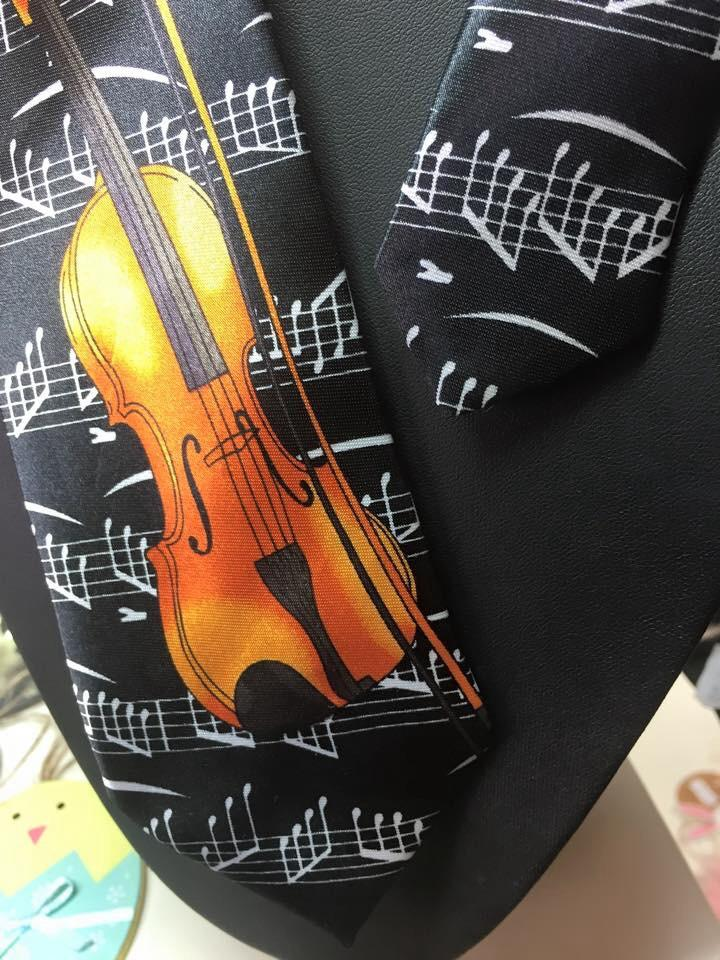 Tie with Violin Design