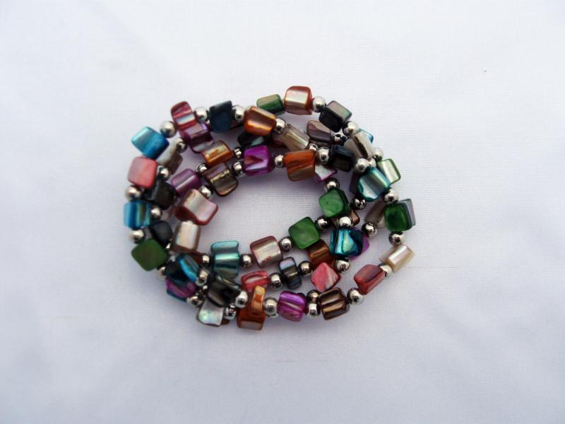 Brightly Coloured Glass Bracelets