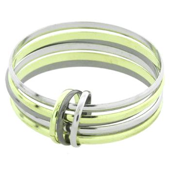 A Three Toned Group of Six Bangles