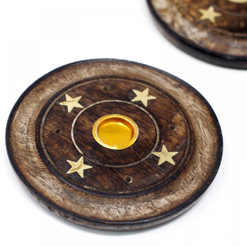 Mango Wood Disc 10cm (Cone & Incense)