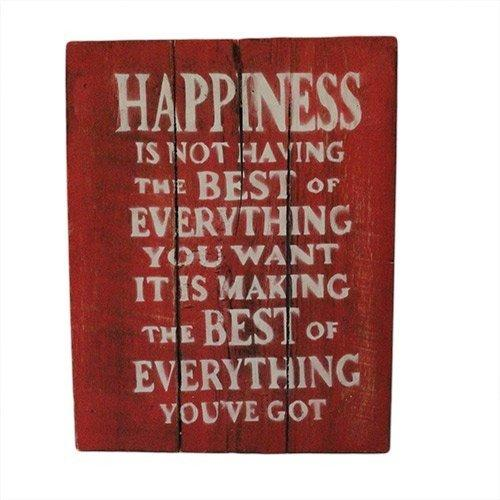 Rough Wooden Signs - Happiness