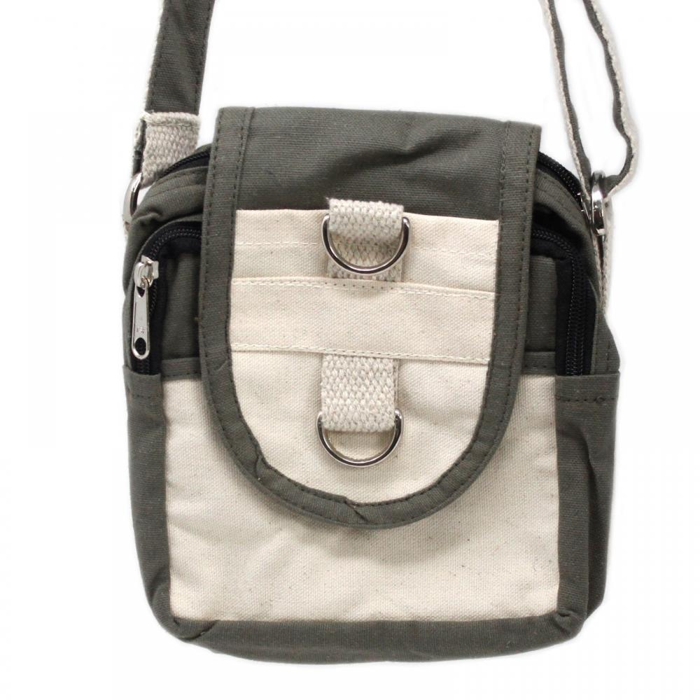 Natural Travel Bag - Charcoal