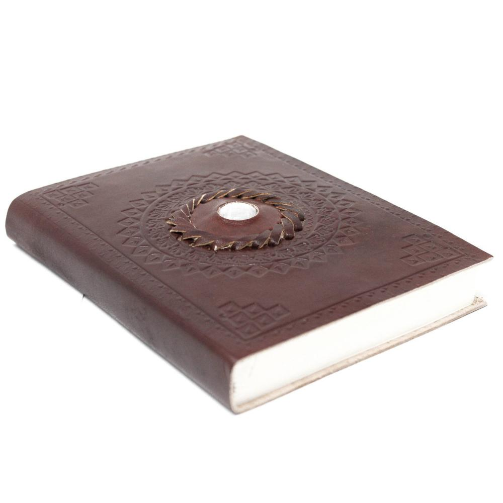 Leather Moonstone Notebook (7x5