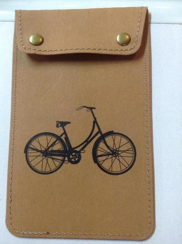 Small Wallet with Bicycle Design and Saying