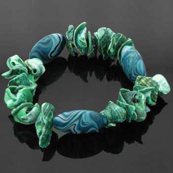 Real Shell Bracelet in Turquoise and Blue colours