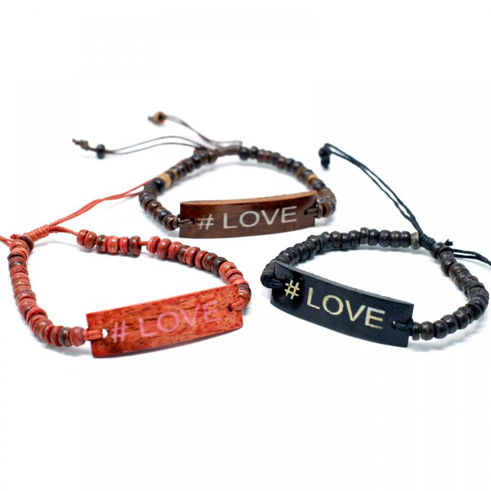 Coco Slogan Bracelets - #Love