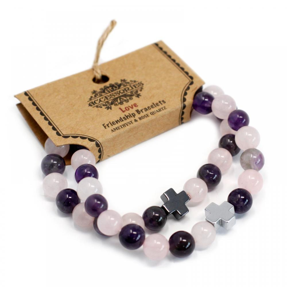 Gemstones Friendship Bracelets - Love
