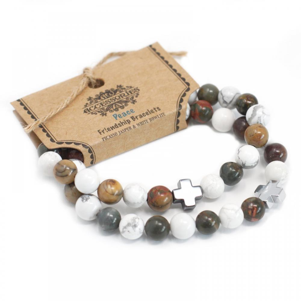 Gemstones Friendship Bracelets - Peace