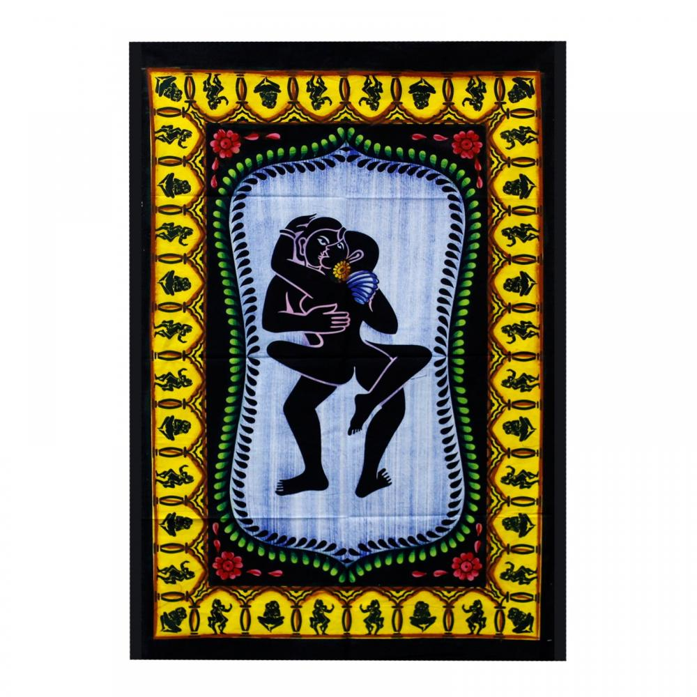 Handbrushed Cotton Wall Art - Kamasutra
