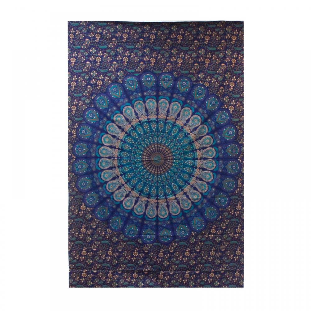 Single Cotton Bedspread + Wall Hanging - Classic Mandala