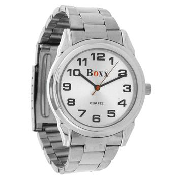 Gents SilverToned Bracelet Strap Watch