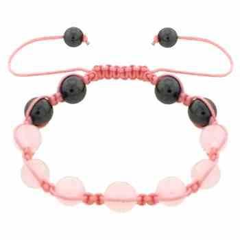 Hematite Pink and White Bracelet