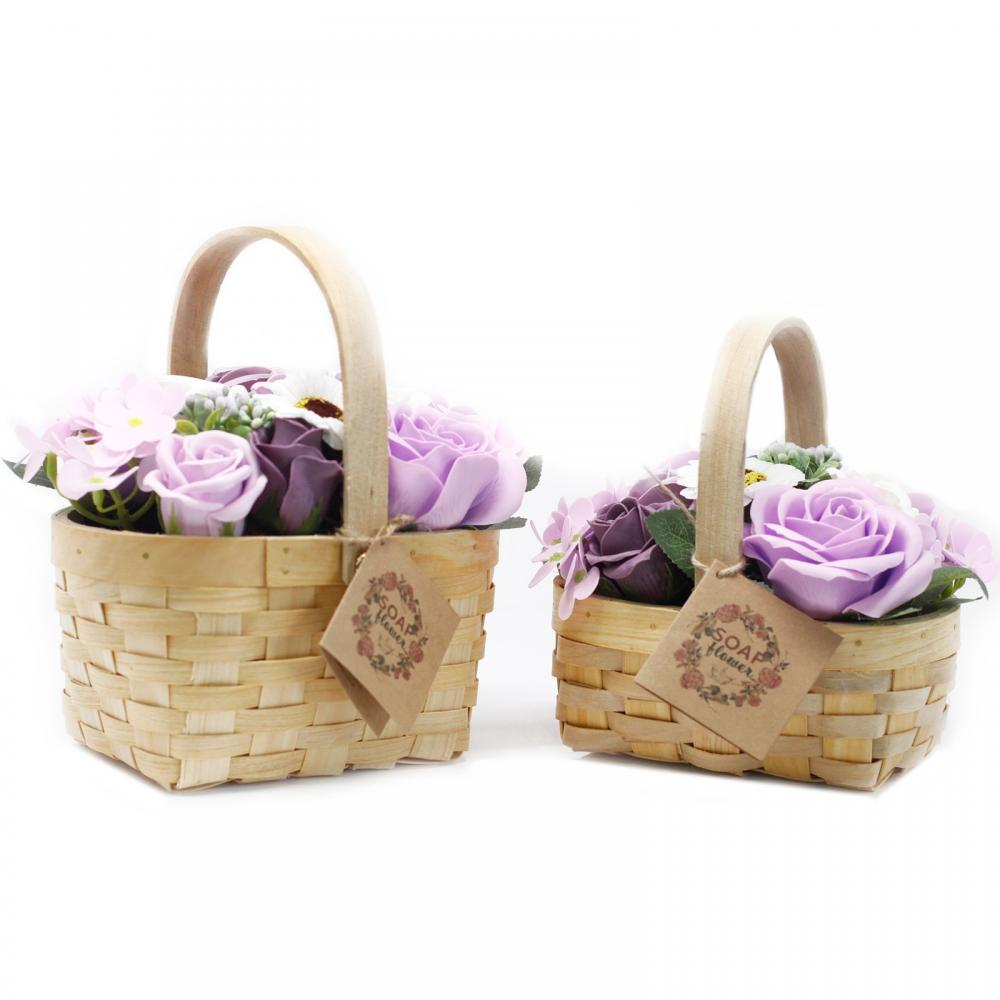 Medium Lilac Bouquet in Wicker Basket