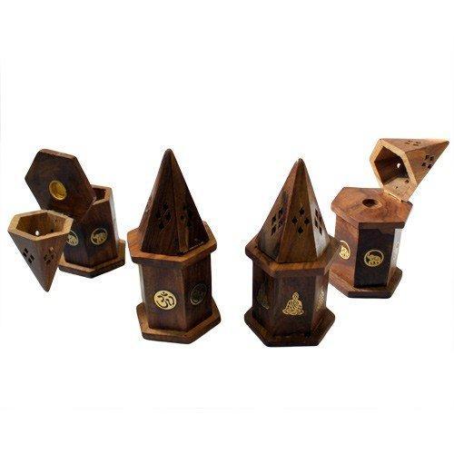 Pyramid Mini Incense House - Shesham