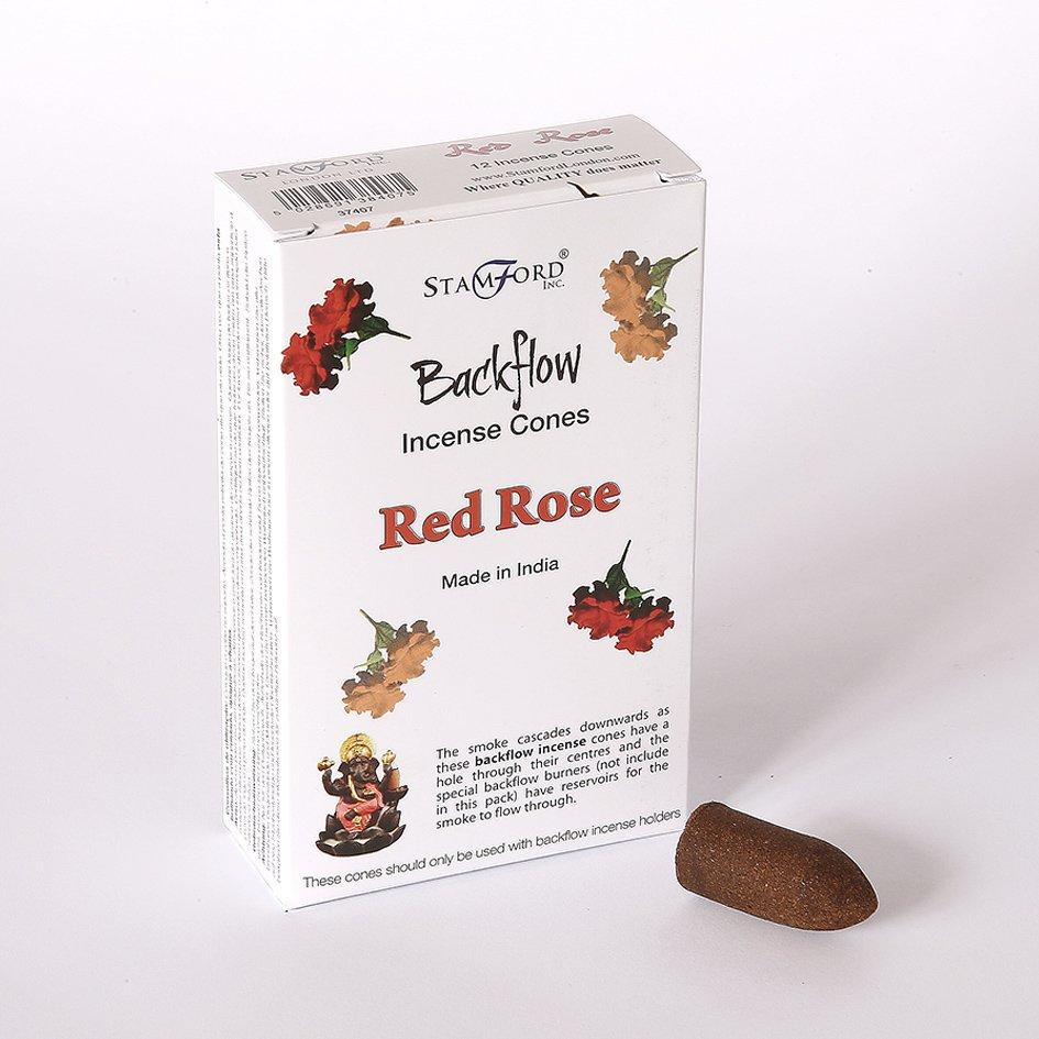 Red Rose Back Flow Incense Cone