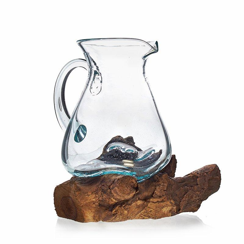 Molten Glass on Woos- Water Jug