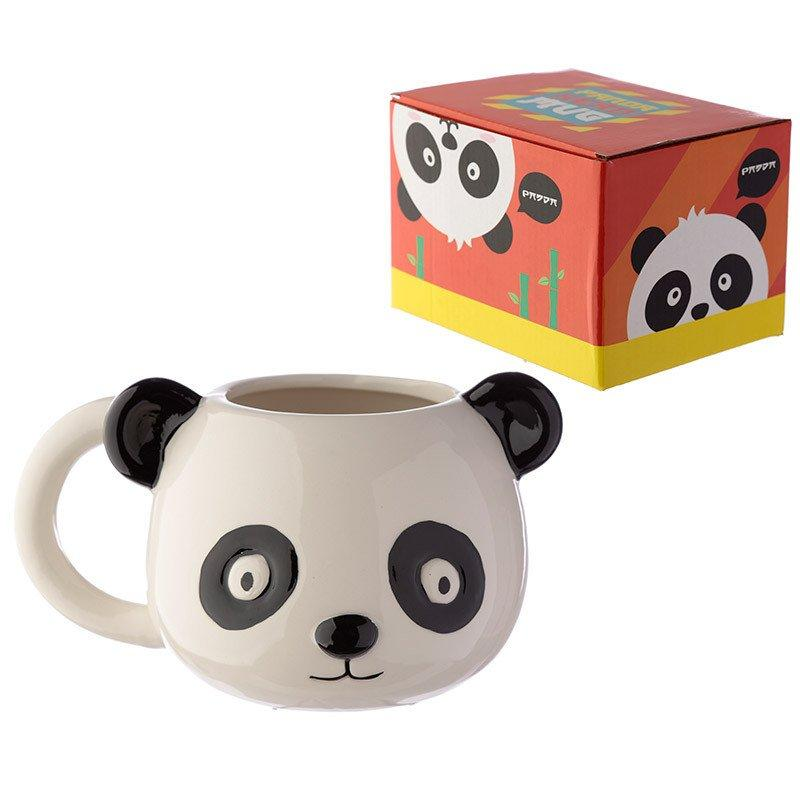 Ceramic Panda Head Shaped Mug