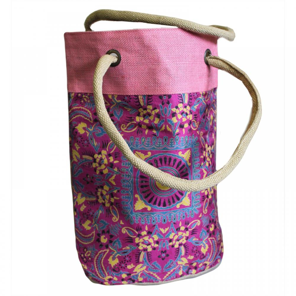 Barrel Shopping Bag 38x37cm Pink Alpana (asst)