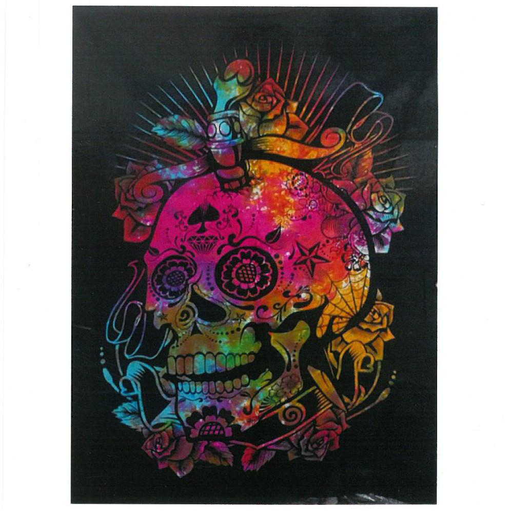 Cotton Wall Art - Day of the Dead Skull