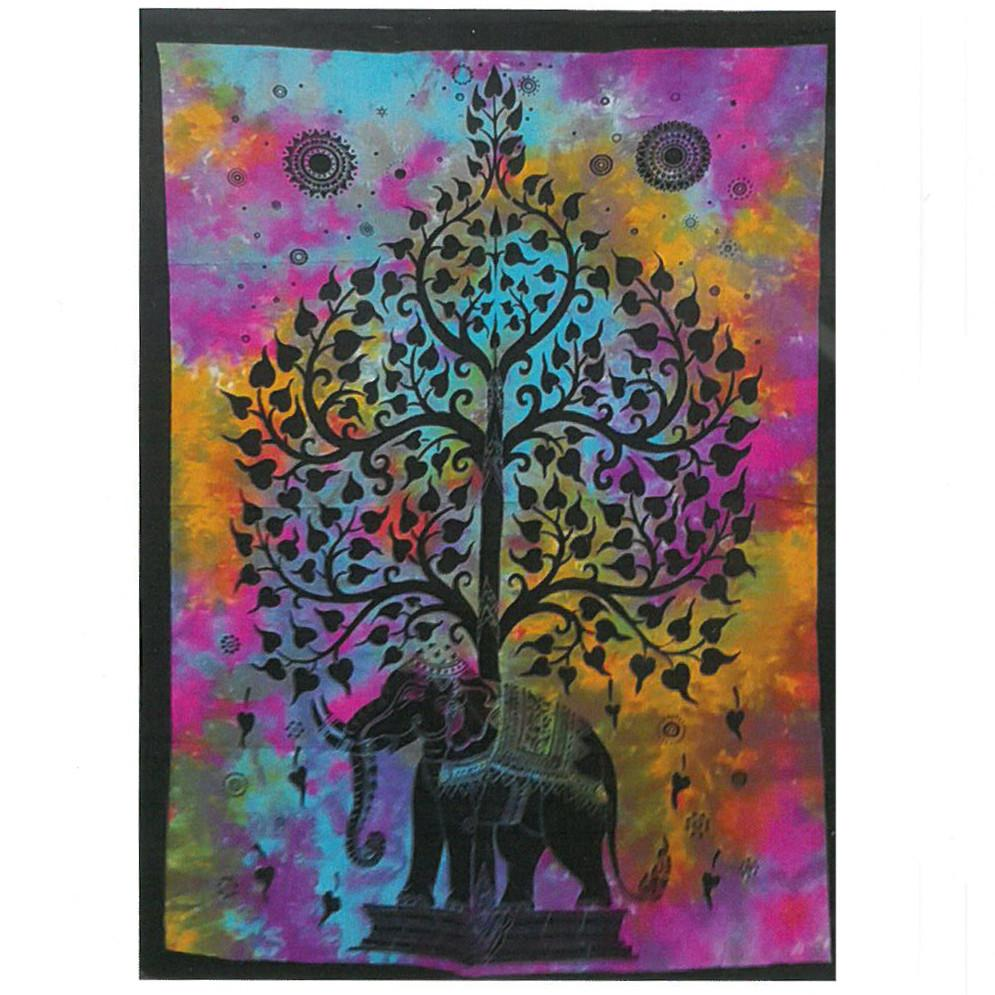 Cotton Wall Art - Elephant Tree