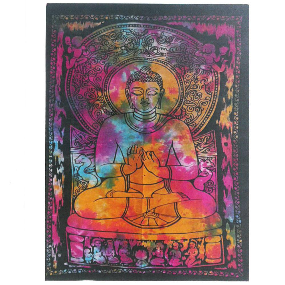 Cotton Wall Art - Peaceful Buddha