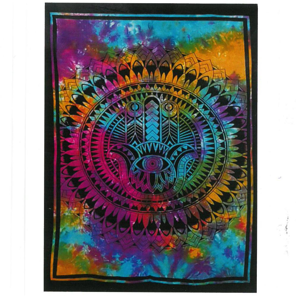 Cotton Wall Art - Hamsa Hand