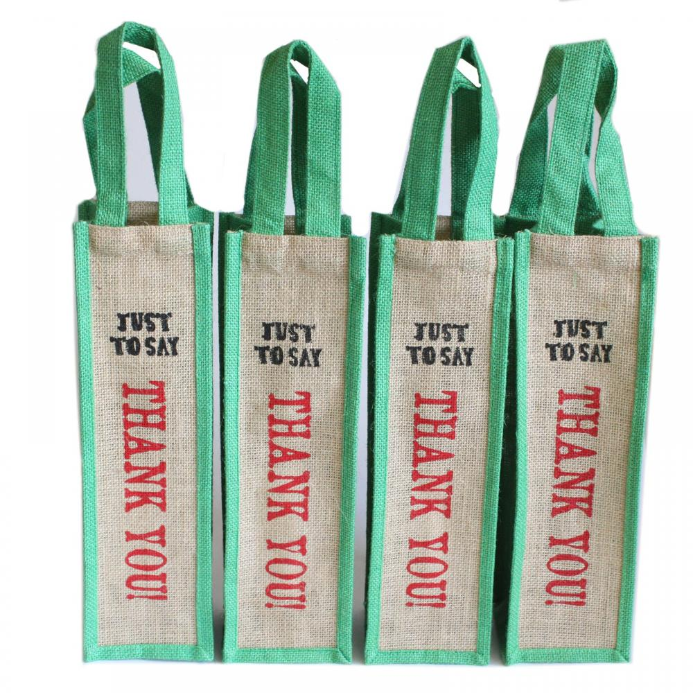 Jute Bag Green - Just to Say Thank You
