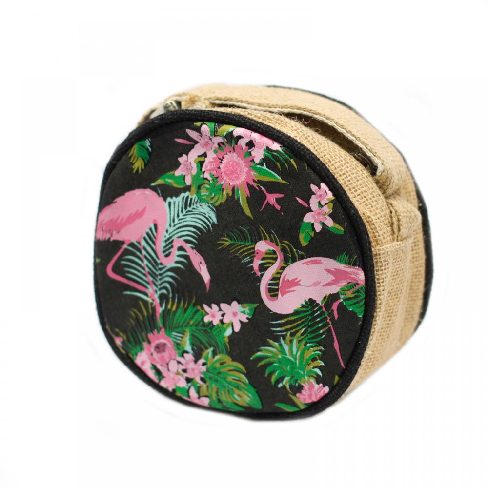 Eco Round Bag - Small - Flamingos