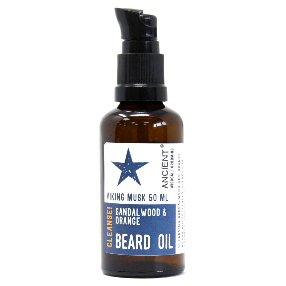 50ml Beard Oil - Viking Musk - Cleanse!
