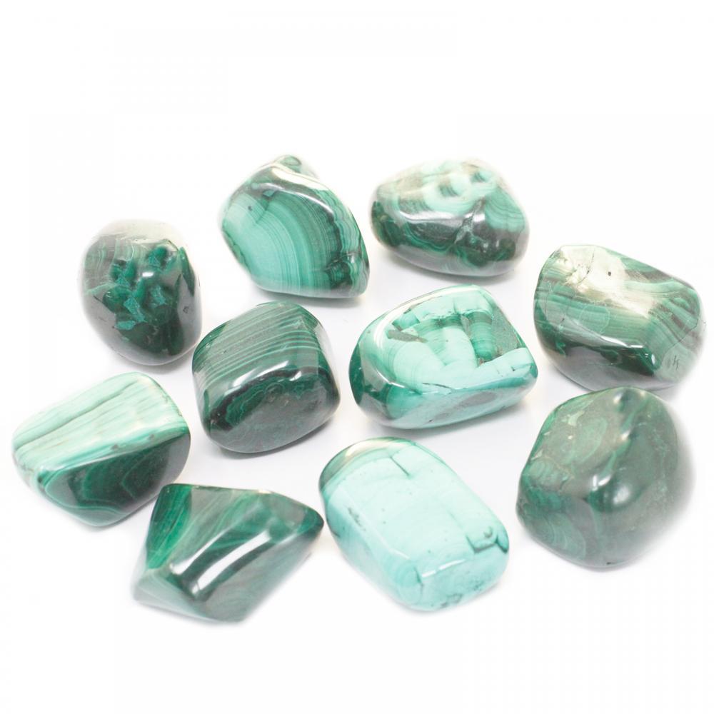 Extra Large Tumble Stones - Malachite