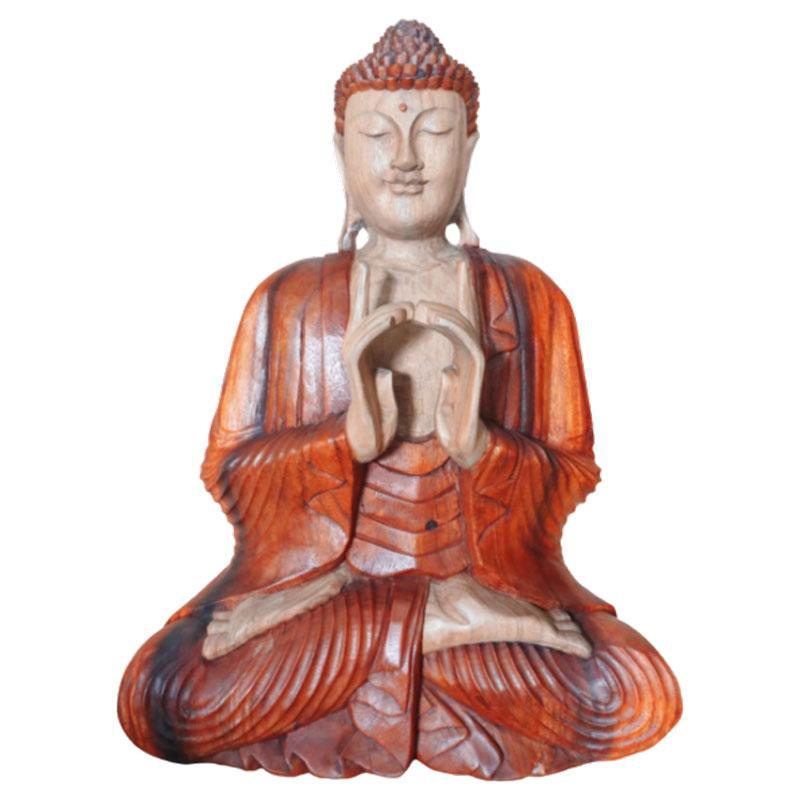 Hand Carved Buddha Statue - 60cm Two Hands