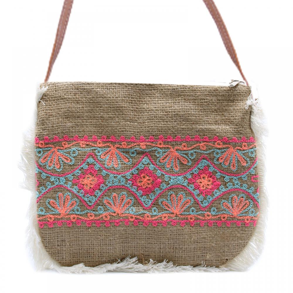 Fab Fringe Bag - Summer Pattern Embroidery