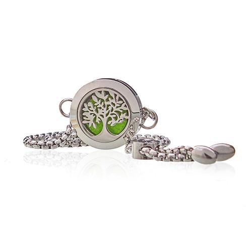 Aromatherapy Jewellery Chain Bracelet - Tree of Life - 20mm