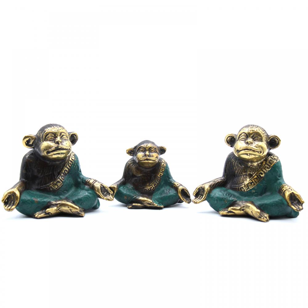 Set of 3 - Family of Yoga Monkeys (asst sizes)