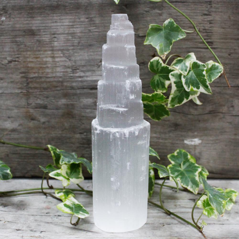Natural Selenite Tower - 20 cm